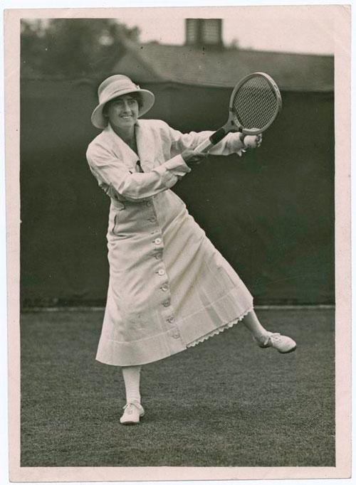 Tenista de principios de siglo XX