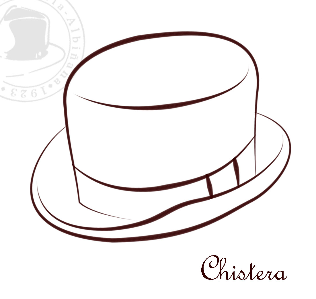 sombrero para colorear