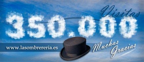 350000 visitas al blog de La Sombrereria