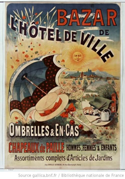 Publicidad de Sombreros, Francia finales del siglo XIX