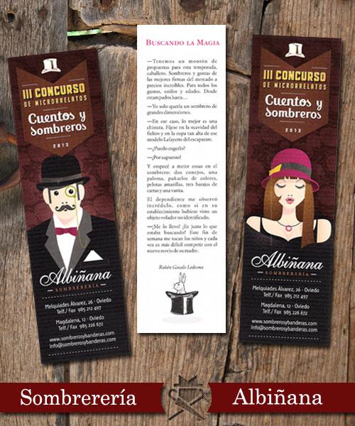 """Marcalibros """"Cuentos y Sombreros"""""""
