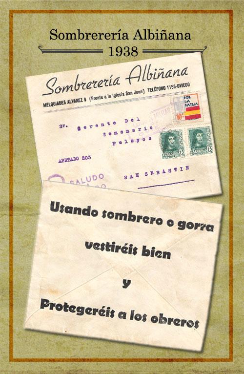 Sombrerería Albiñana 1938