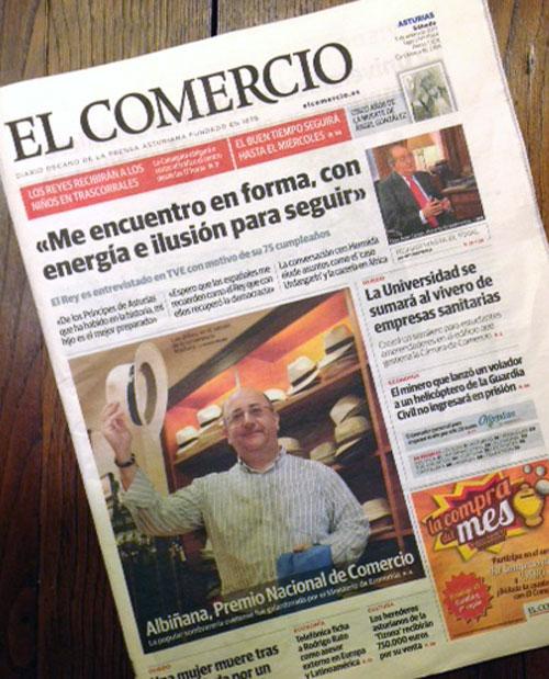 """Portada de """"El Comercio"""""""
