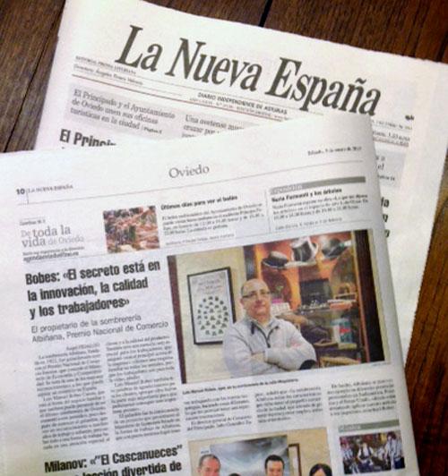 """Artículo de """"La Nueva España"""""""