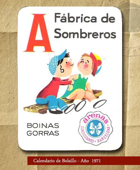 Fábrica de Sombreros - Calendario de bolsillo