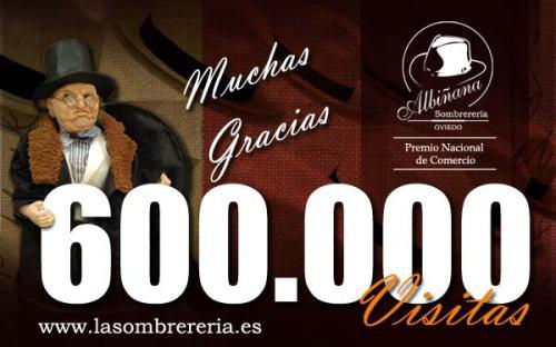 600000 visitas en el blog de La Sombrerería