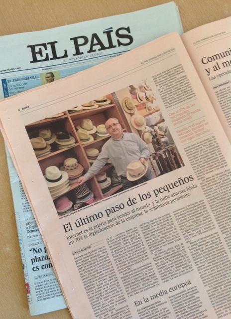 Sombrerería Albiñana en el diario El País